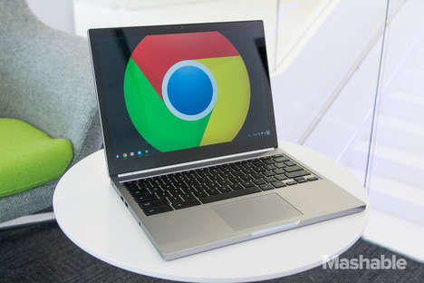 Powerful Laptop Designs - Chromebook Pixel 2 Takes on Apple by Prioritizing Options and Functions