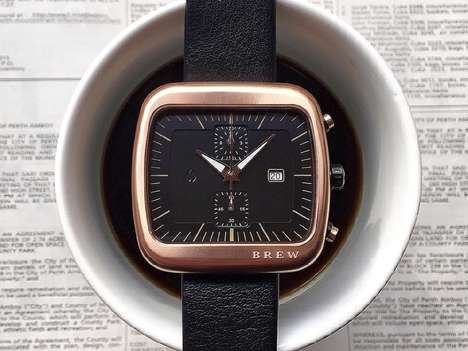 Coffee-Inspired Chronographs - Brew Watch is Modeled After Espresso Machines and Midday Breaks