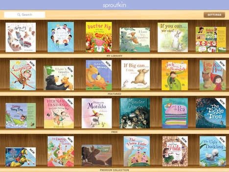 Child Bookworm Subscriptions - The Sproutkit Subscription for Kids Gifts New E-Books Each Month