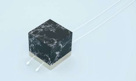 Marble Cord Management - This Elegant Cable Cube Keeps Your Wires Conveniently Placed and Presented
