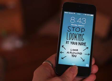 Mindful Smartphone Wallpapers - Molly McLeod's Phone Backgrounds Help You to Look Away From Screens