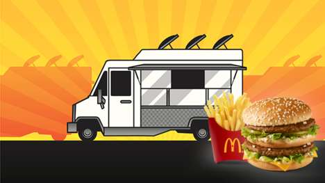 Casual Dining Trucks - A McDonald's Food Truck and Lounge at SXSW Tempts Millennials
