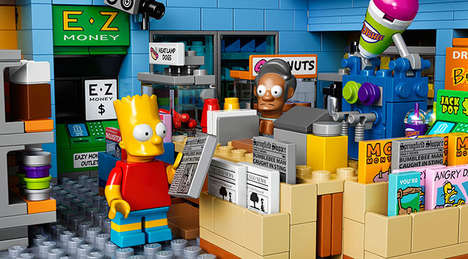 Buildable Cartoon Sets - The LEGO Simpsons Kwik-E-Mart Set Will be Unveiled at SXSW