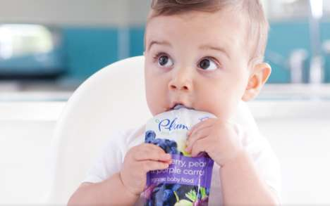 Culinary-Inspired Baby Foods - Plum Organics Creates Healthy Options Exposing Babies to Many Flavors
