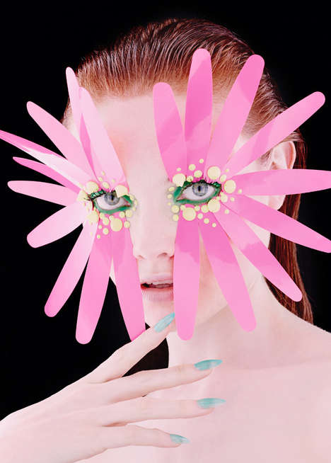 Avant Garde Beauty Editorials - Hunger Magazine's Synaesthesia Story Boasts Conceptual Cosmetics