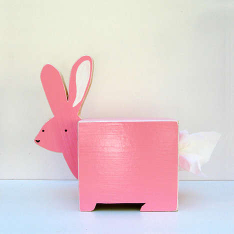Animal Tissue Box Sculptures - Etsy's Sparkly Pony Shop Makes Tissues More Fun for Kids