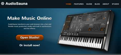 Browser Production Studios - AudioSauna Allows People to Create Music Online