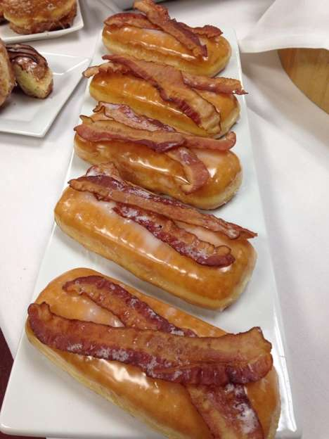 Bacon-Topped Treats - The Limited Edition Deluxe Bacon Donut is Available at Some Dunkin' Donuts