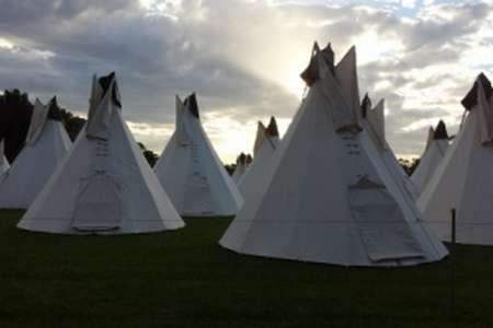 Teepee Concert Tents - Lost Paradise Glamping Offers a Range of Conical Cloth Accommodations