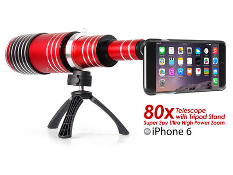 Long-Range Phone Lenses - The iPhone 80X Telescope Lets You Take Quality Photos from a Distance