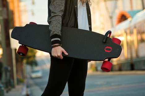 Electric Longboards - The Monolith Skateboard is Driven by Two In-Wheel Electric Motors