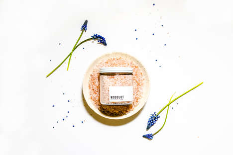 Rejuvenating Mineral Baths - Woodlot Enhances the Epsom Salt Bath Experience with a Rosy Product