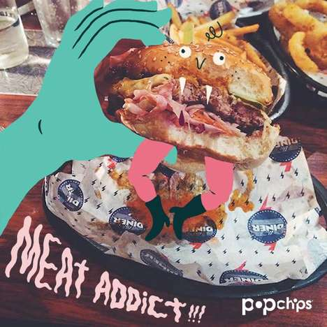 Doodled Lunch Campaigns - PopChips UK's Interactive Online Campaign Makes Lunches Exciting