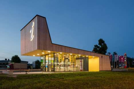 Contemporary Visitor Hubs - This New Tourist Information Center in Slovenia is Bright and Modern