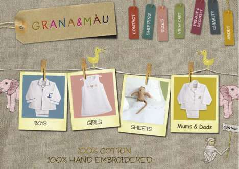 Crafty Clothing Websites - Grana & Mau's Hand-Embroidered Products Inspire Its Site Design