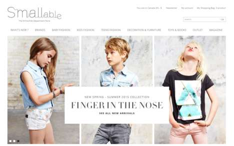 Convenient Childwear Boutiques - Smallable Retails Quirky Clothes, Furniture & Toys for Kids Online