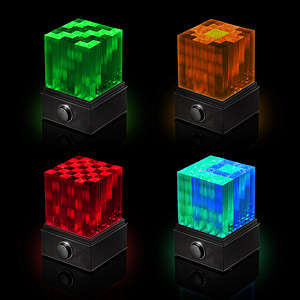 Cubed Light Show Speakers - Think Geek's SuperNova LED Light Cube Bluetooth Speaker is Artistic