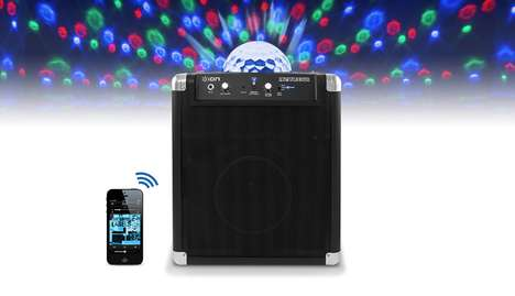 Disco Sound Systems - The Party Rocker Amplifier Emits Bright Swirling Lights and Karaoke Voices