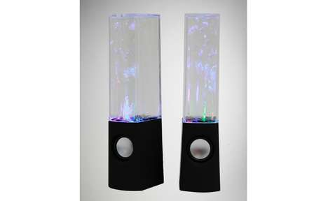 Spellbinding Fountain Speakers - The Watershow Sound System Sprays Lit-Up Liquid to the Rhythm