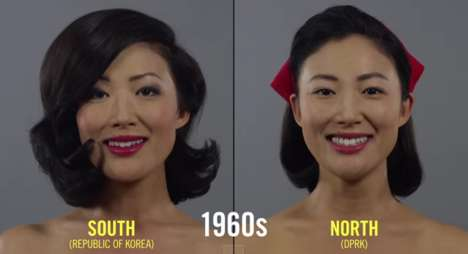Korean Beauty Evolutions - Cut.com Captures 100 Years of Beauty in Korea in One Minute