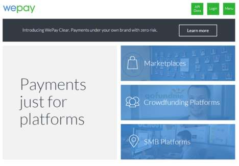 Flexible Payment Platforms - WePay Powers Platform Businesses to Help Them Make a Global Difference
