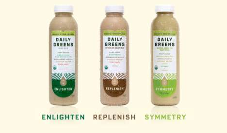 Dairy-Free Superfood Drinks - Daily Greens' Hemp Milk Drinks Are Brimming with Nutritional Value