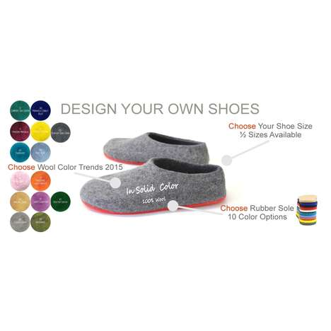 Stylish Bespoke Slippers - The Bespoke Felt Slippers Gives a Pleasure to Design