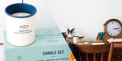 Personality-Instilled Luminairies - Daring, Gracious and Charming Candles Bring Character to a Room
