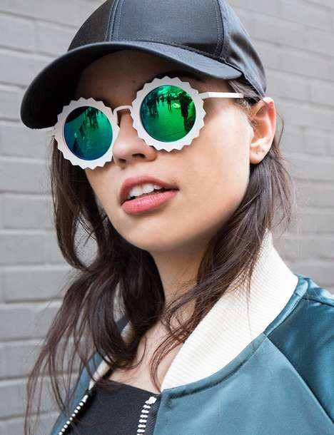 Flirty Festival Shades - These Mirrored Shades Boast a Polarized Lens and Floral Frame