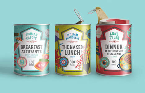 Canned Book Packaging - The Food for Thought Series Cleverly Plays on Meal-Related Titles