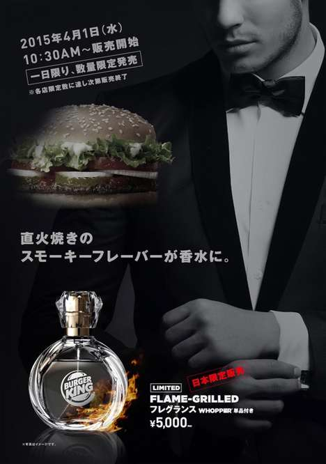 Fast Food Scents - The New Burger King Perfume Will Leave You Smelling Like a Whopper