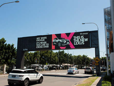 Targeted Highway Billboards - Lexus' Engaging Marketing Billboard Singles Out Drivers