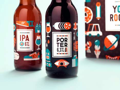 Cartoony Booze Branding - Illustrated Beer Labels Bring Playfulness to Limited Edition Packaging