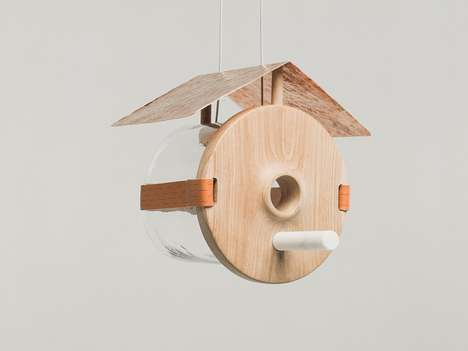 Luxury Avian Abodes - This Glass Bird House Caters to Your Feathered Friends with Expensive Taste