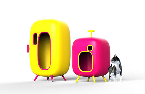 Spacey Pet Beds - A Futuristic Dog House Assumes an Alien Appearance and Hidden Hi-Tech Features