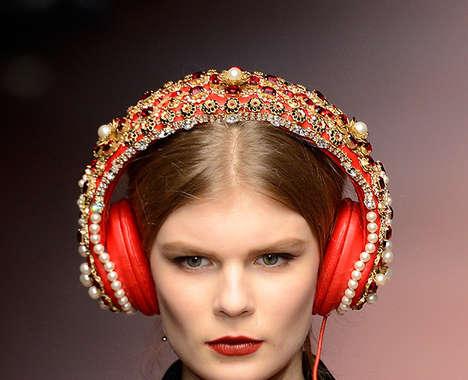 Embellished Designer Headphones