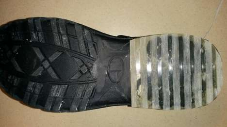 Ice-Gripping Boot Soles - These Boot Soles Use Glass to Facilitate Better Grip On Ice