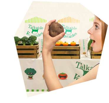 Interactive Produce Stations - Hakuhodo's Talking Food Prototype Lets Farmers Chat with Consumers