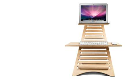 Flat-Packed Tabletop Workstations - Adjustable Standing Desks Make it Simple to Set Up Shop Anywhere