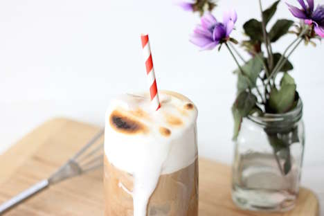 Toasted Marshmallow Iced Coffee - This Marshmallow Iced Coffee Recipe