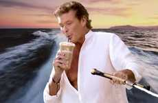 Celeb-Endorsed Iced Java - This David Hasselhoff Commercial is Ridiculous but Memorable