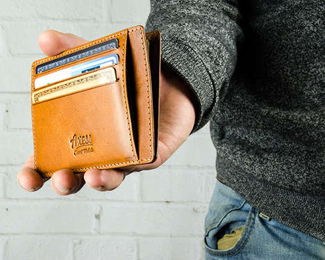 Slim Security Wallets - The Axess Fits a Surprising Amount of Money within Its RFID-Blocking Pockets