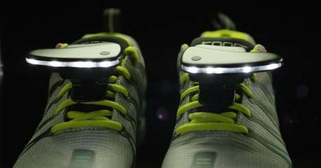 Illuminating Running Shoe Lights - The Night Runner Shoe Lights Make It Safer To Run At Night