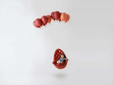 Whimsical Balloon Seating - Satoshi Itasaka's Balloon Chair is Inspired by a 50s Short Film