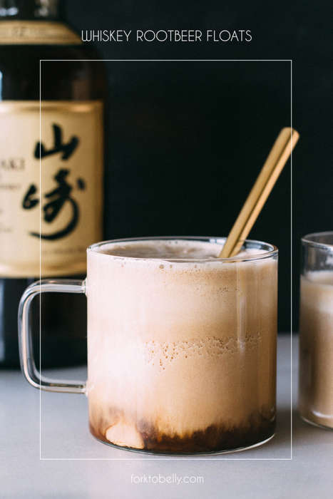 Alcoholic Float Recipes - This Whiskey Root Beer Float Turns a Soda Into a Delicious Cocktail