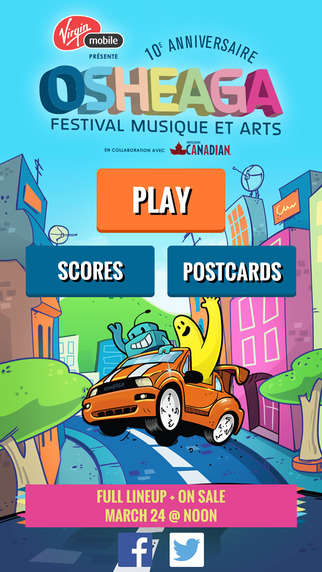 Music Event Apps - The Osheaga Festival Teases Its Lineup in a Mobile Game