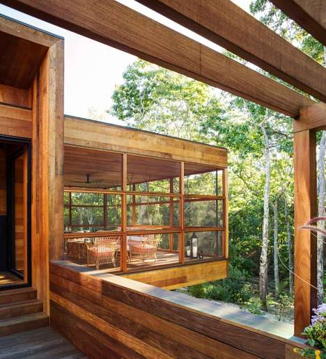 Modular Timber Cabins - This Luxurious Hamptons Home by Rangr Studio is Tucked Away in the Woods