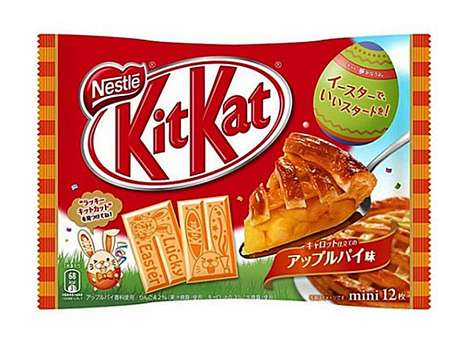 Easter-Themed Chocolate Bars - New Kit Kat Flavors Include Apple Pie and Carrot with Bunny Etchings