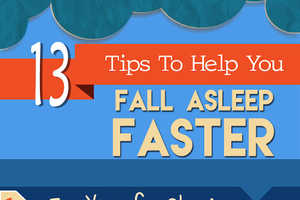 This Infographic Offers 13 Different Tips to Help You Fall Asleep Faster