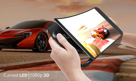 Innovative Gaming Tablets - A 10-Inch Curved Screen Establishes an Immersive Play Experience